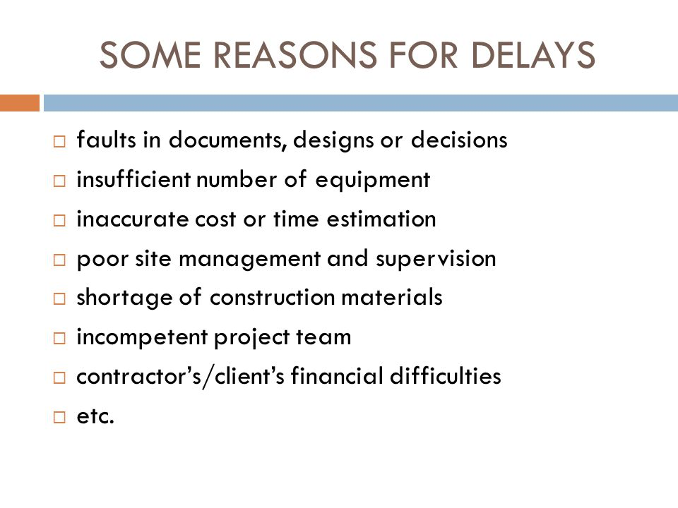 delay in construction project and its consequences