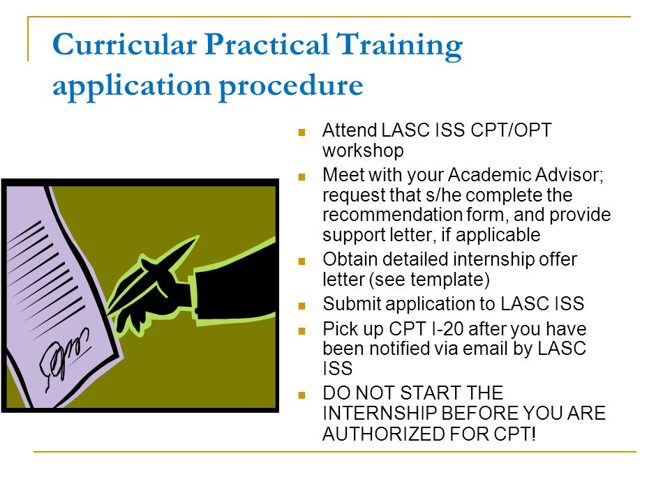 Curricular practical training for f 1 students ppt download curricular practical training application procedure altavistaventures Choice Image