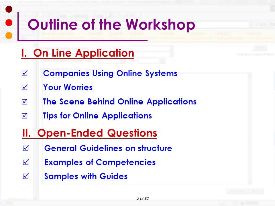 preparing your online job application workshop ppt download