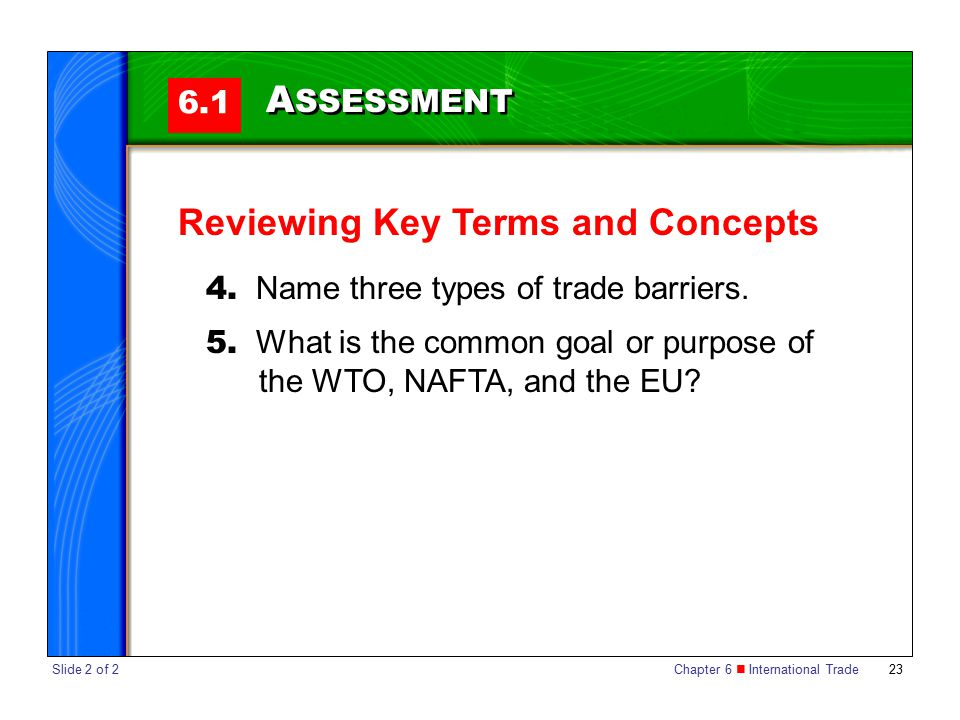 Reviewing Key Terms and Concepts