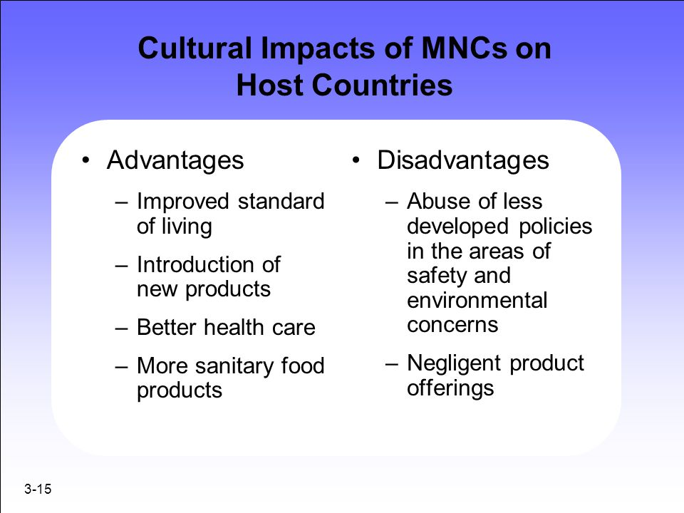 Cultural Impacts of MNCs on Host Countries