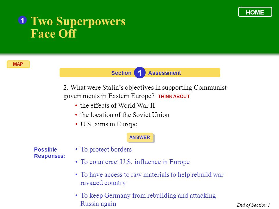 who were the two superpowers after ww2