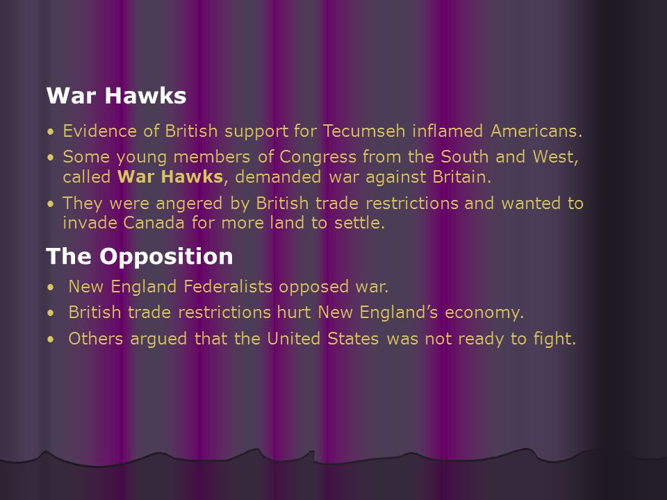 War Hawks The Opposition