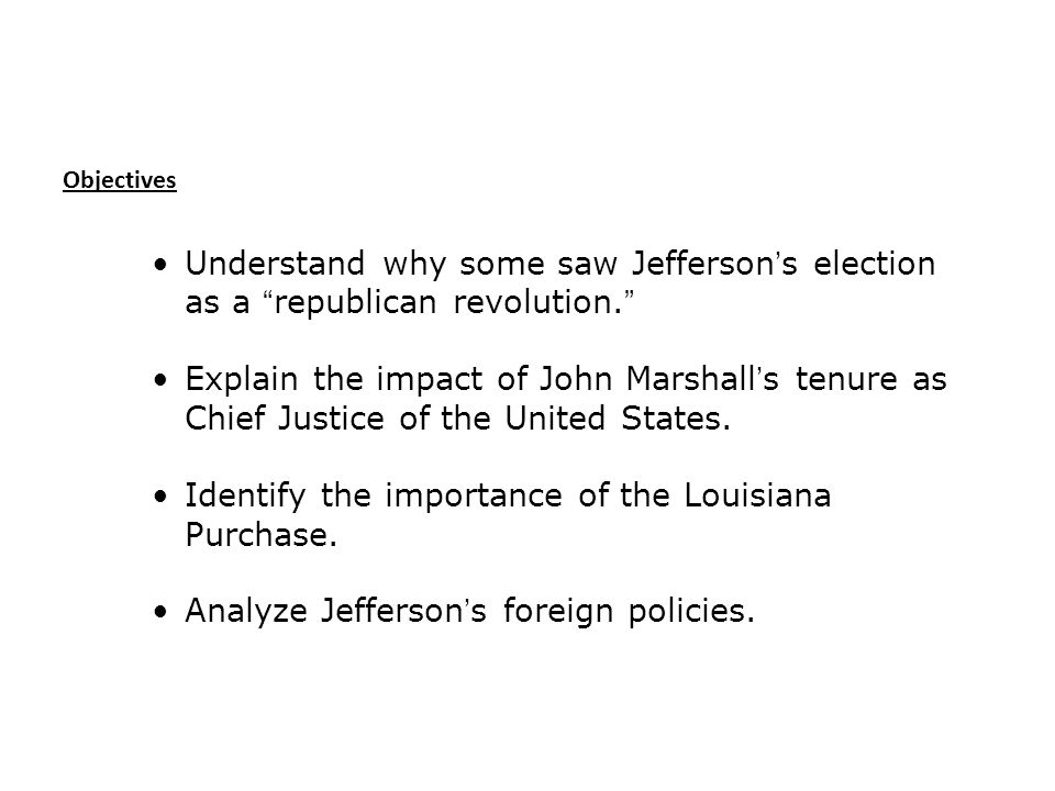 Identify the importance of the Louisiana Purchase.