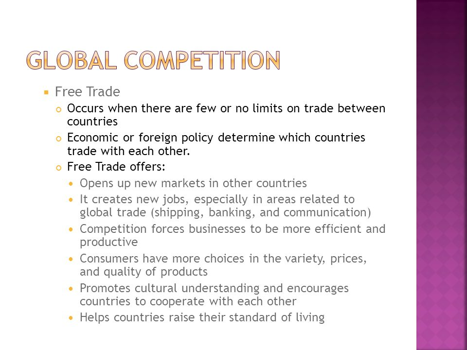 Global competition Free Trade