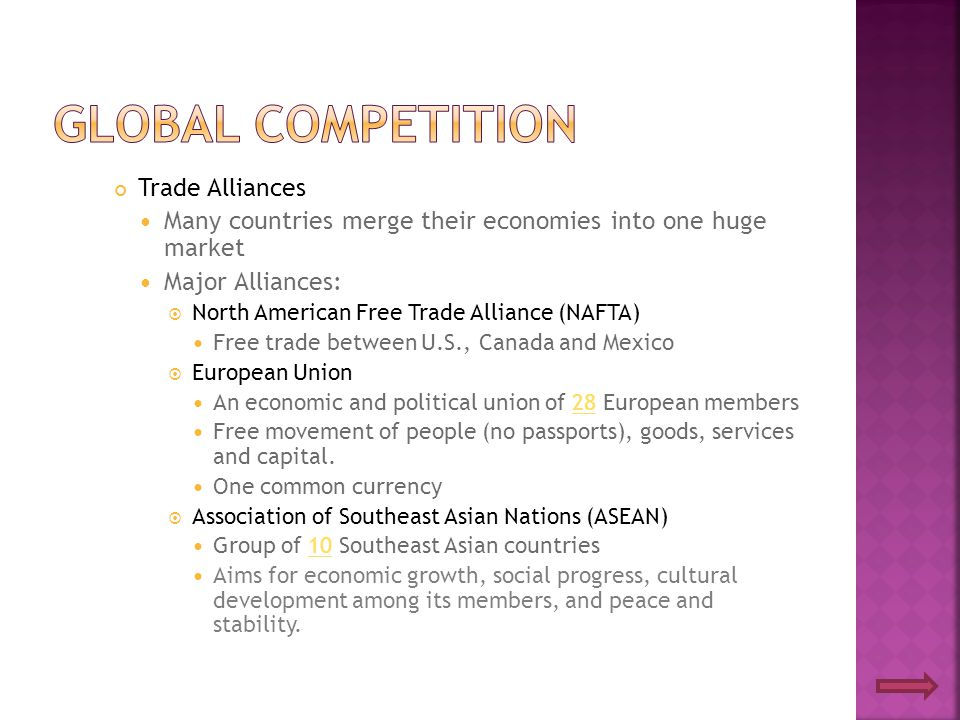 Global Competition Trade Alliances