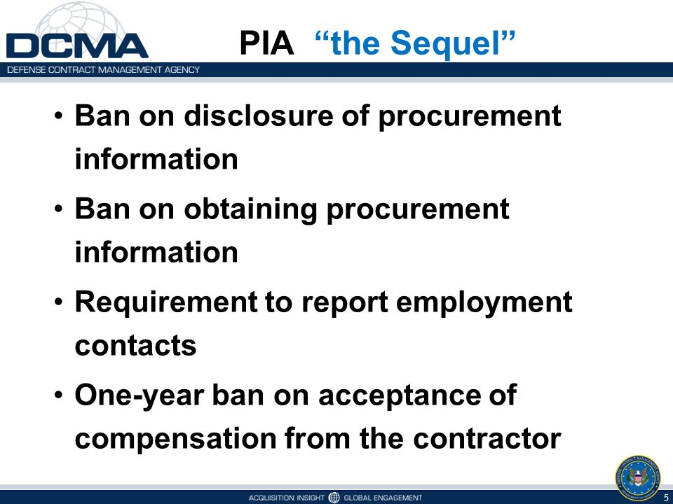 PIA the Sequel Ban on disclosure of procurement information