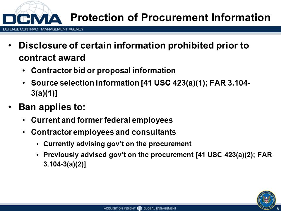 Protection of Procurement Information