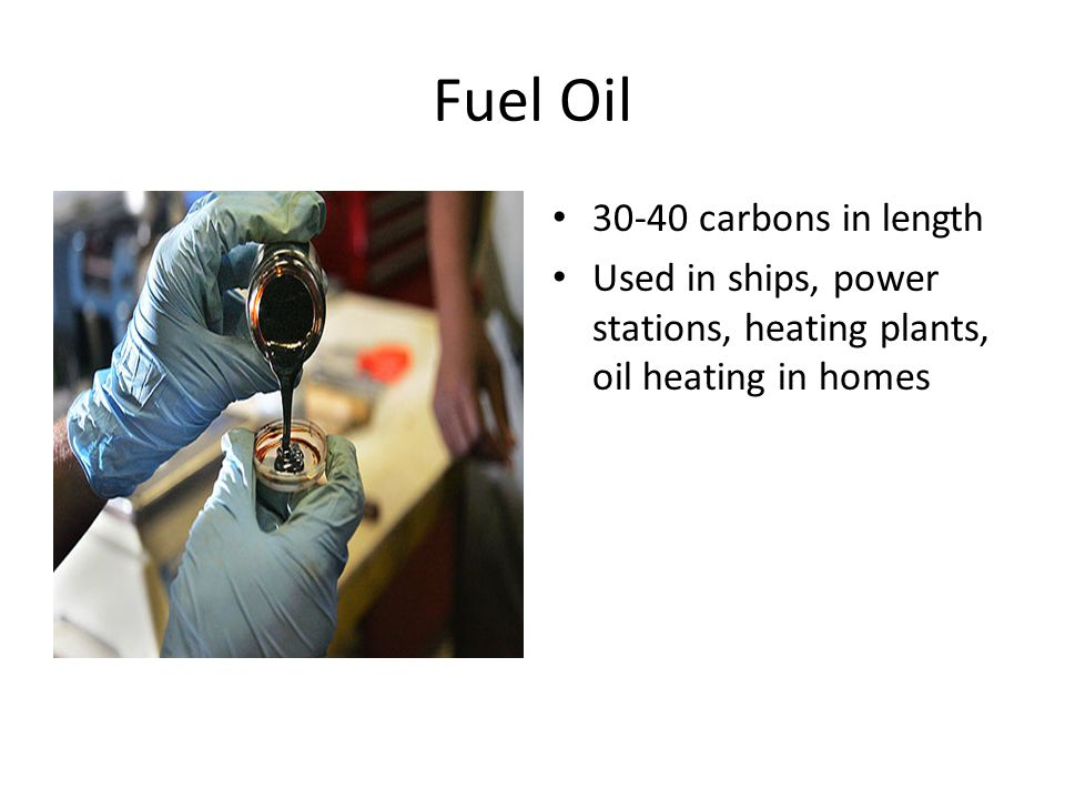 Fuel Oil carbons in length