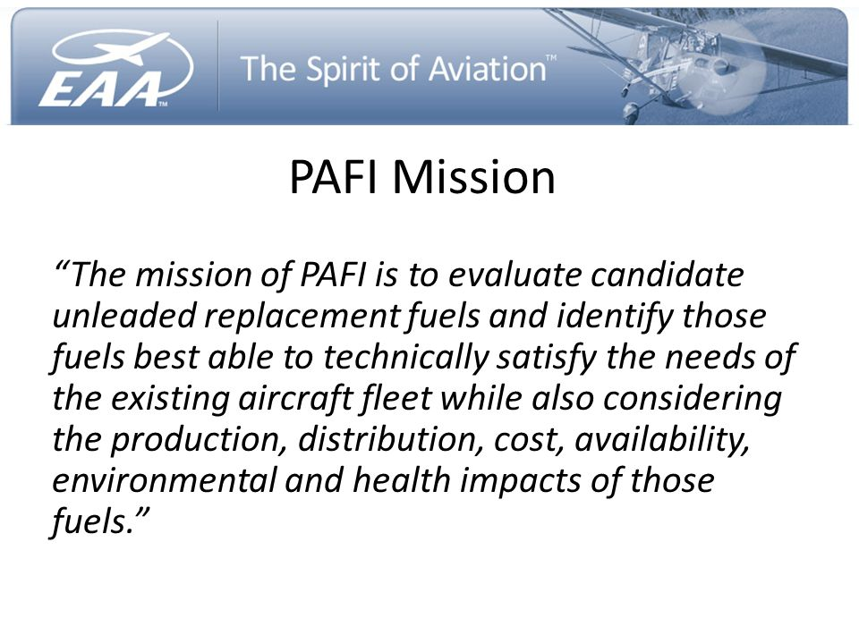 PAFI Mission