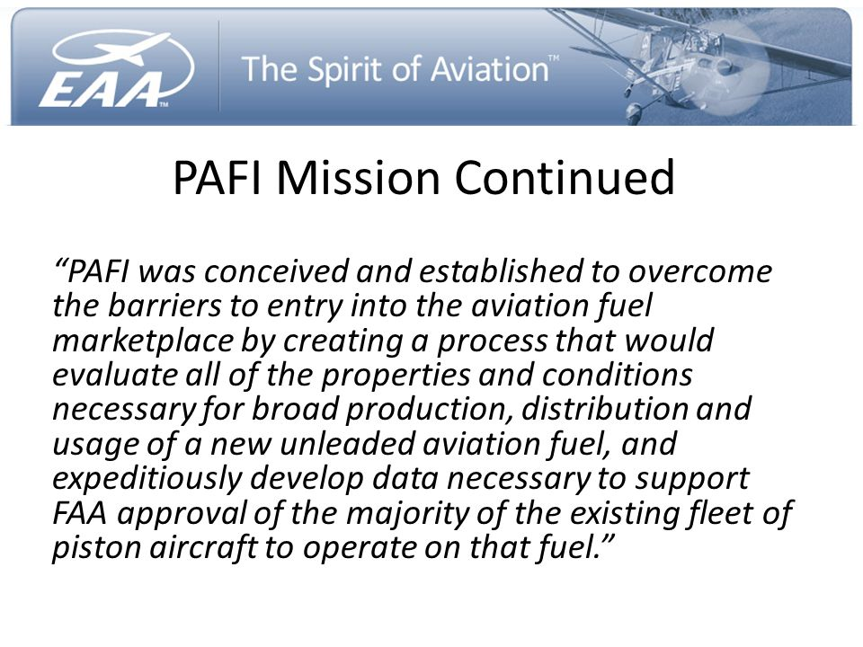 PAFI Mission Continued
