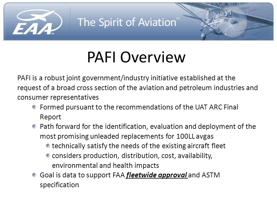 PAFI Overview