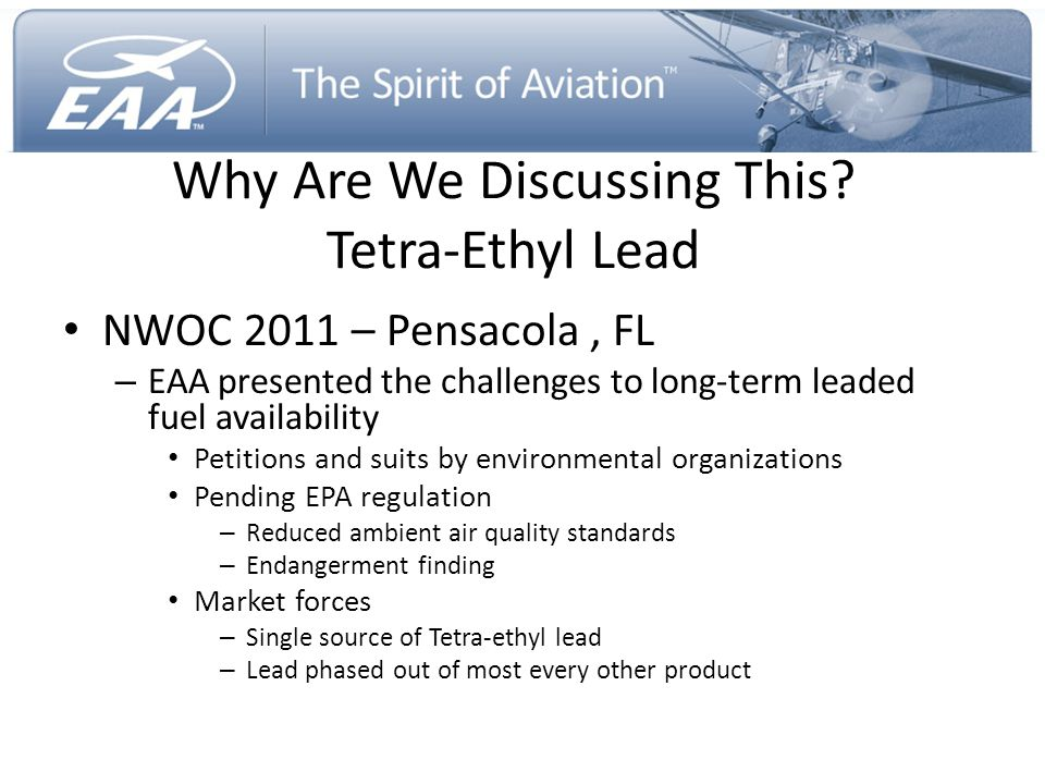 Why Are We Discussing This Tetra-Ethyl Lead