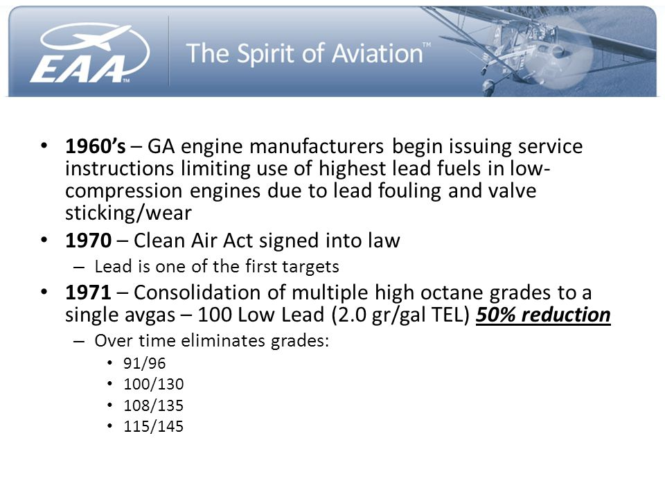 1970 – Clean Air Act signed into law