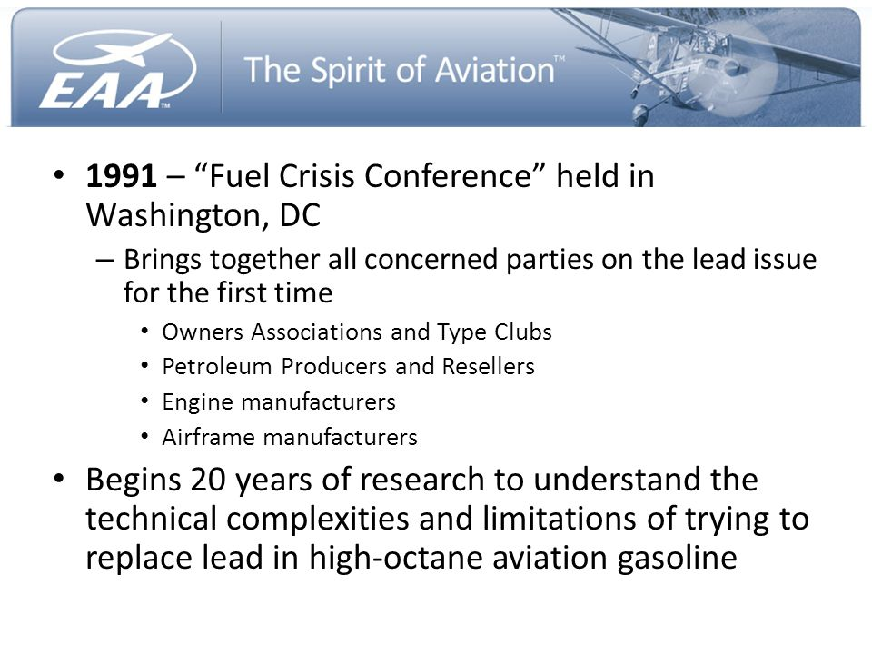 1991 – Fuel Crisis Conference held in Washington, DC