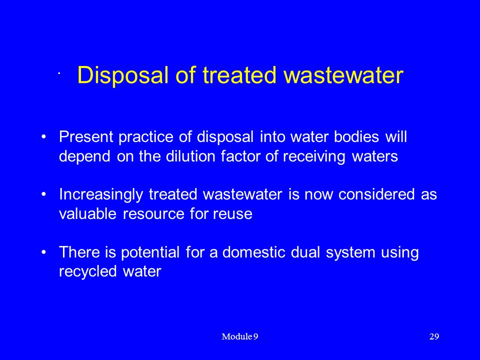 Disposal of treated wastewater