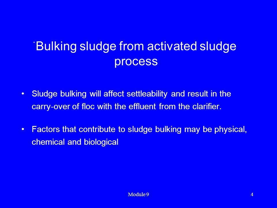 Bulking sludge from activated sludge process