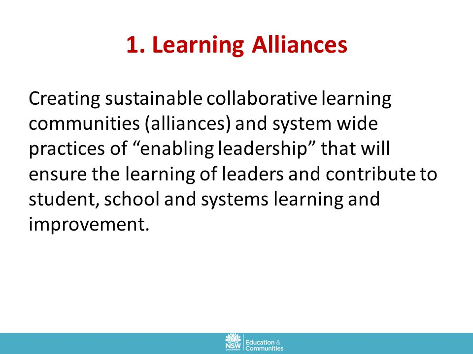1. Learning Alliances