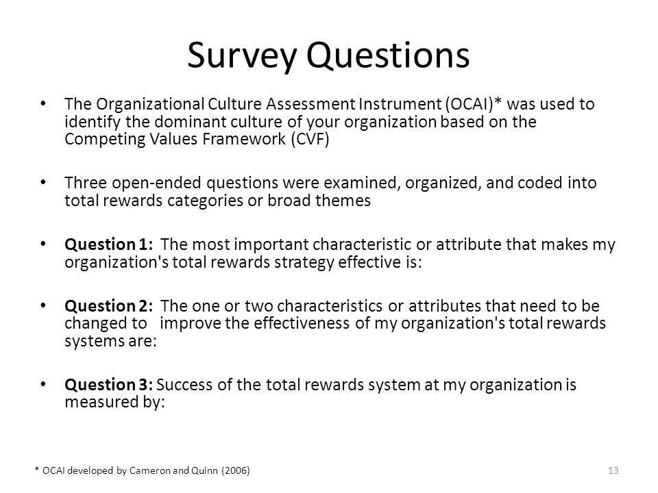 organizational culture assessment instrument template - deborah voyt ph d presented at d shrm total rewards