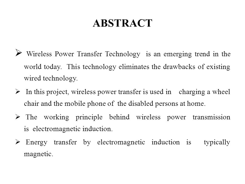 WIRELESS POWER TRANSMISSION FOR MOBILE AND WHEELCHAIR CHARGING OF