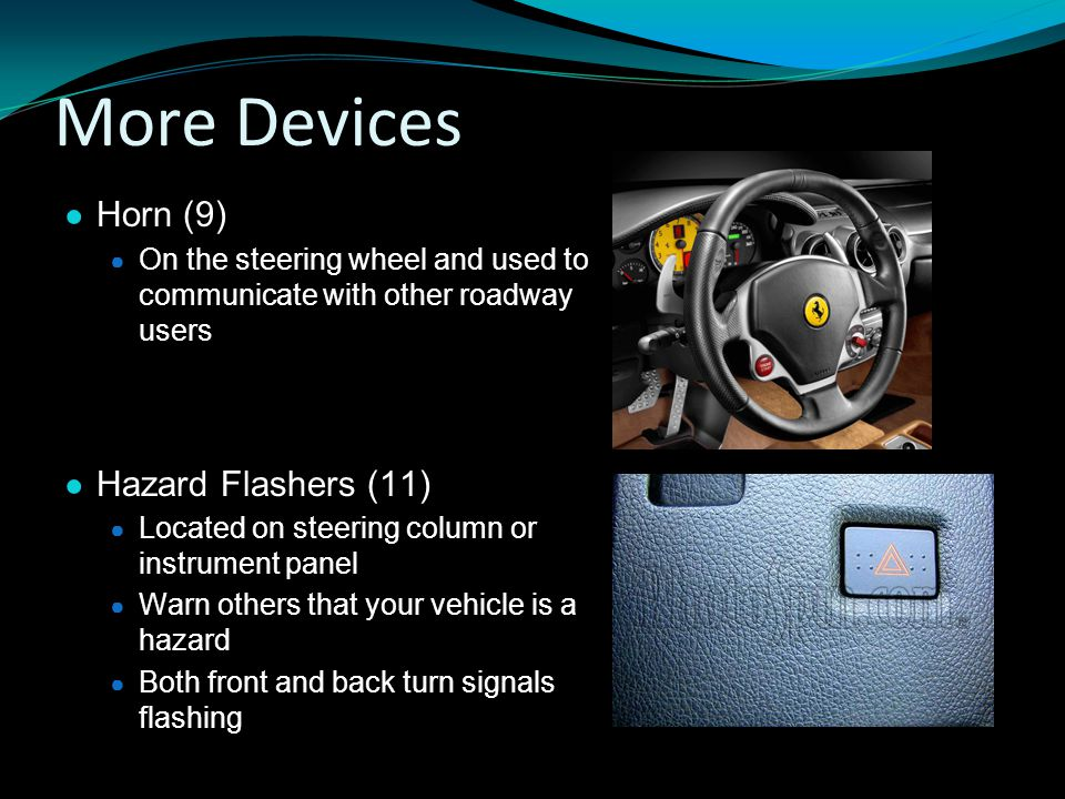 More Devices Horn (9) Hazard Flashers (11)
