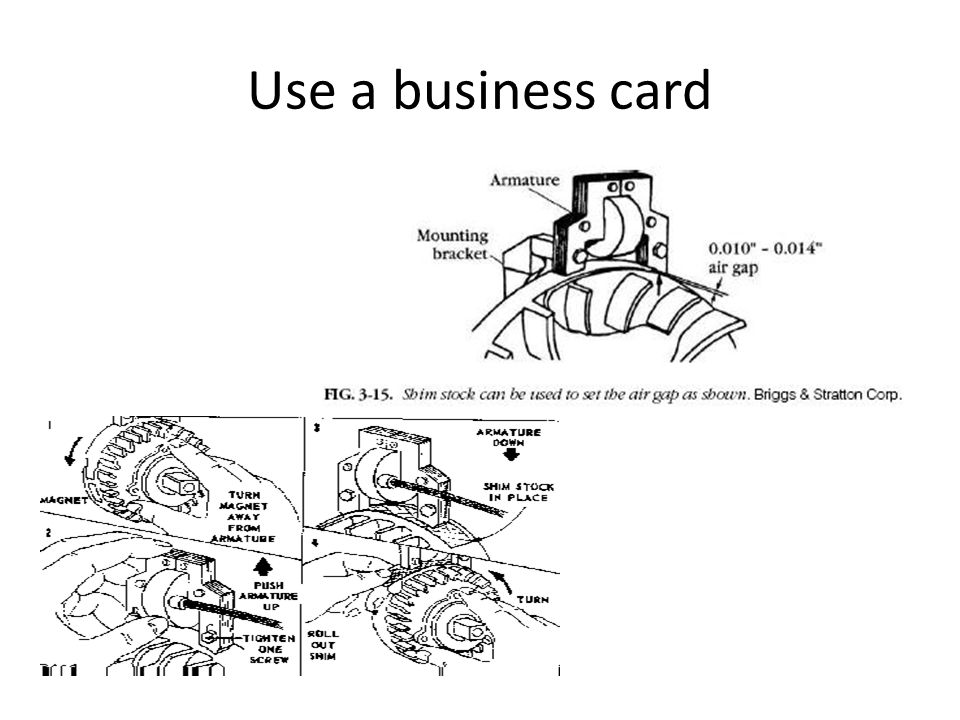 Use a business card