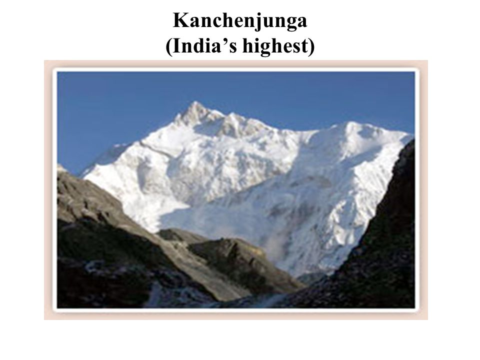 Kanchenjunga (India's highest)