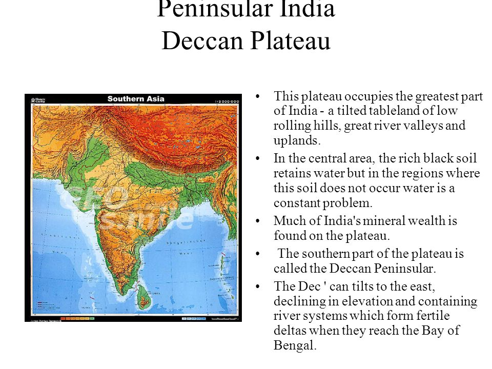 Peninsular India Deccan Plateau