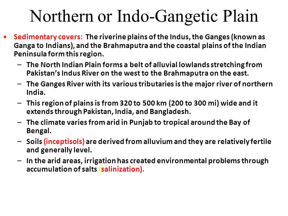 Northern or Indo-Gangetic Plain