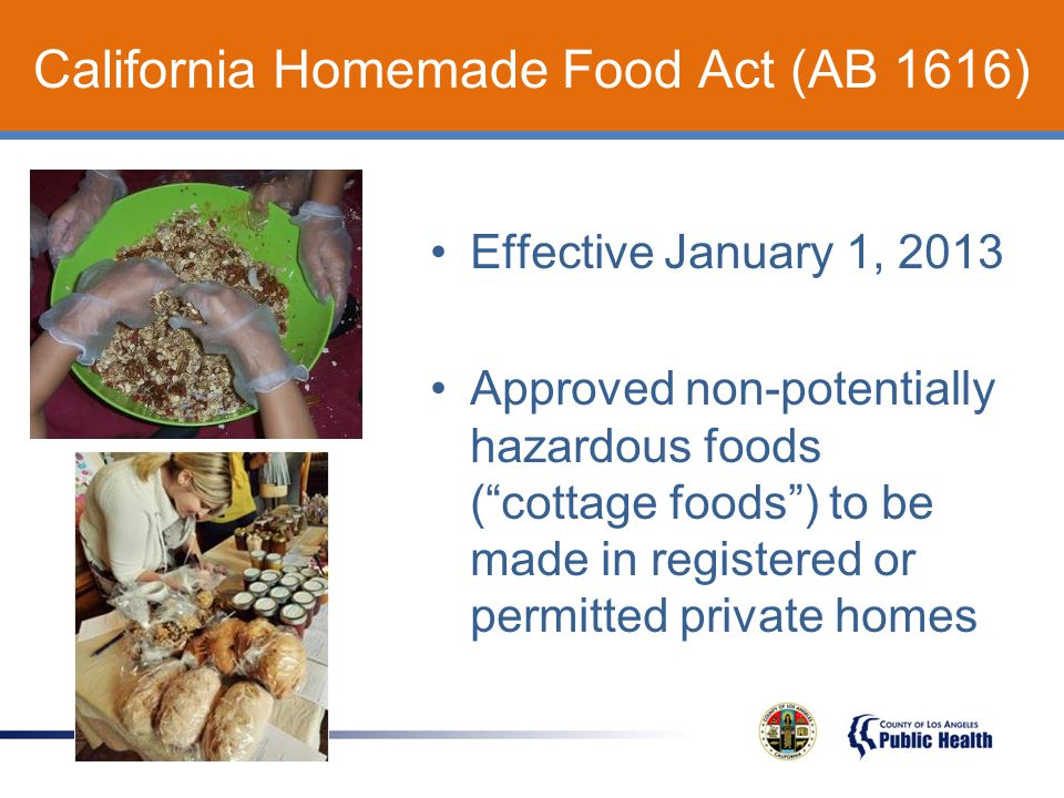 Cottage Food Environmental Health Division Ppt Video Online Download