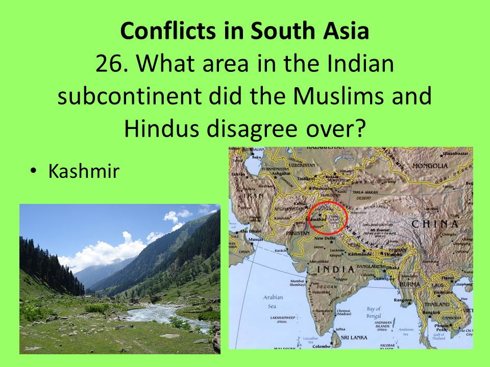Conflicts in South Asia