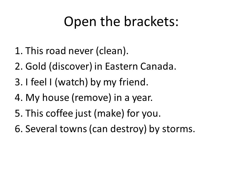 Open the brackets: