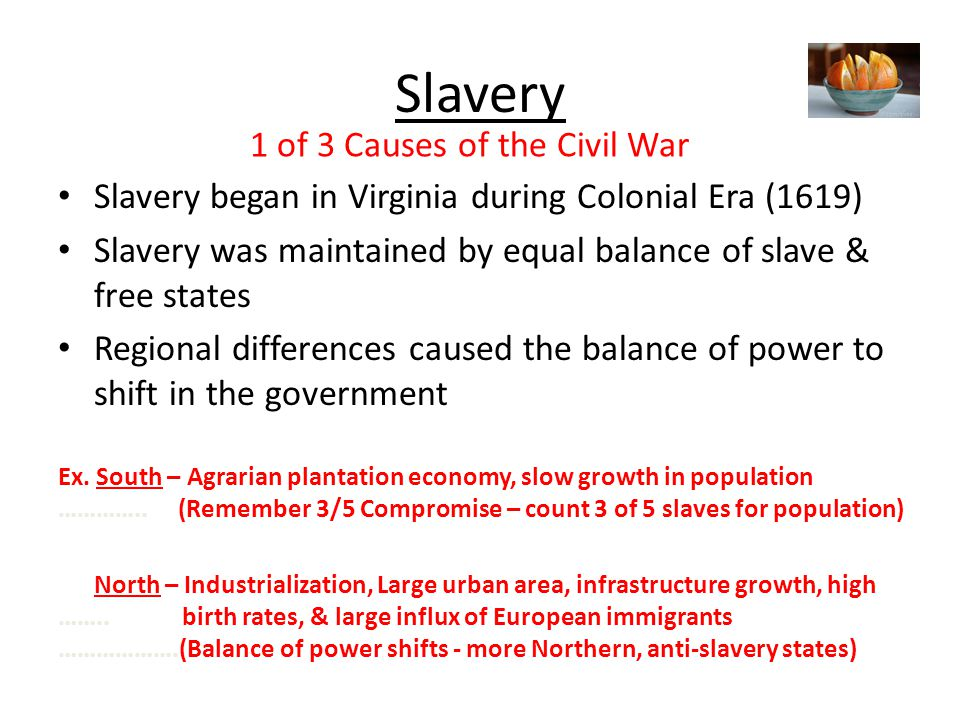 slavery caused the civil war essay The civil war was the bloodiest war in all of america's history but some things still remains a mystery in the civil war slavery, economy, and state's rights were the main cause to the civil war the slavery brought tensions,many differences in economy,and fighting for a cause.
