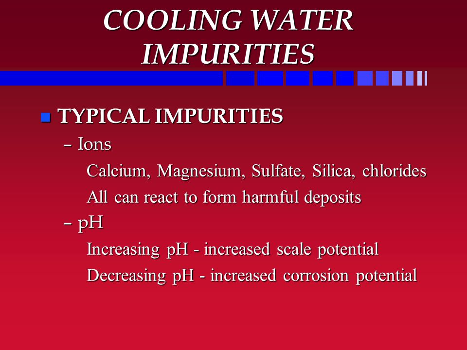 COOLING SYSTEMS WATER TREATMENT TRAINING - ppt video online download