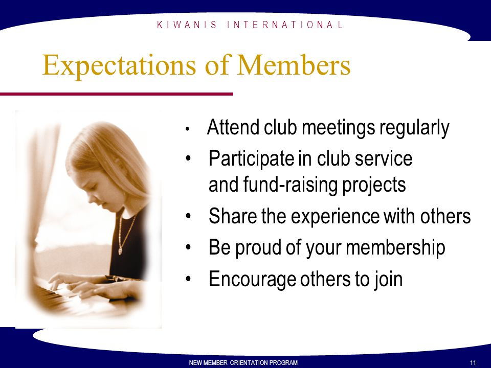 Expectations of Members
