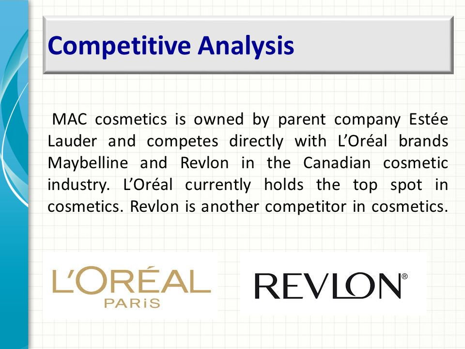 mac cosmetics competitive analysis