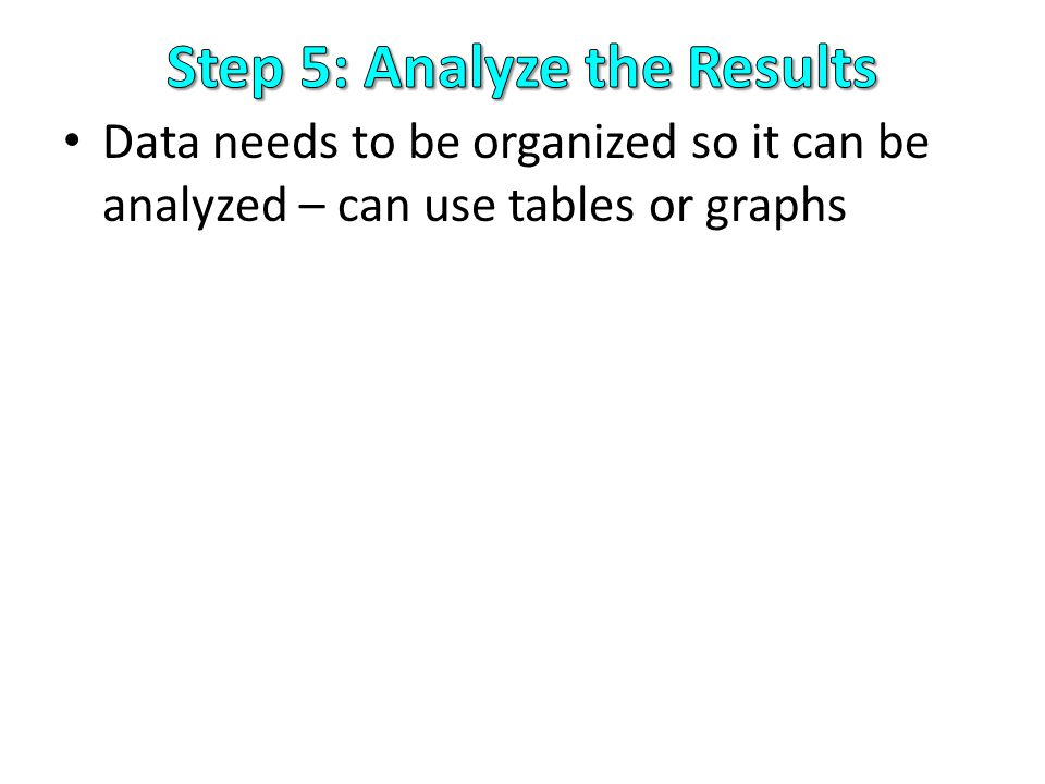 Step 5: Analyze the Results