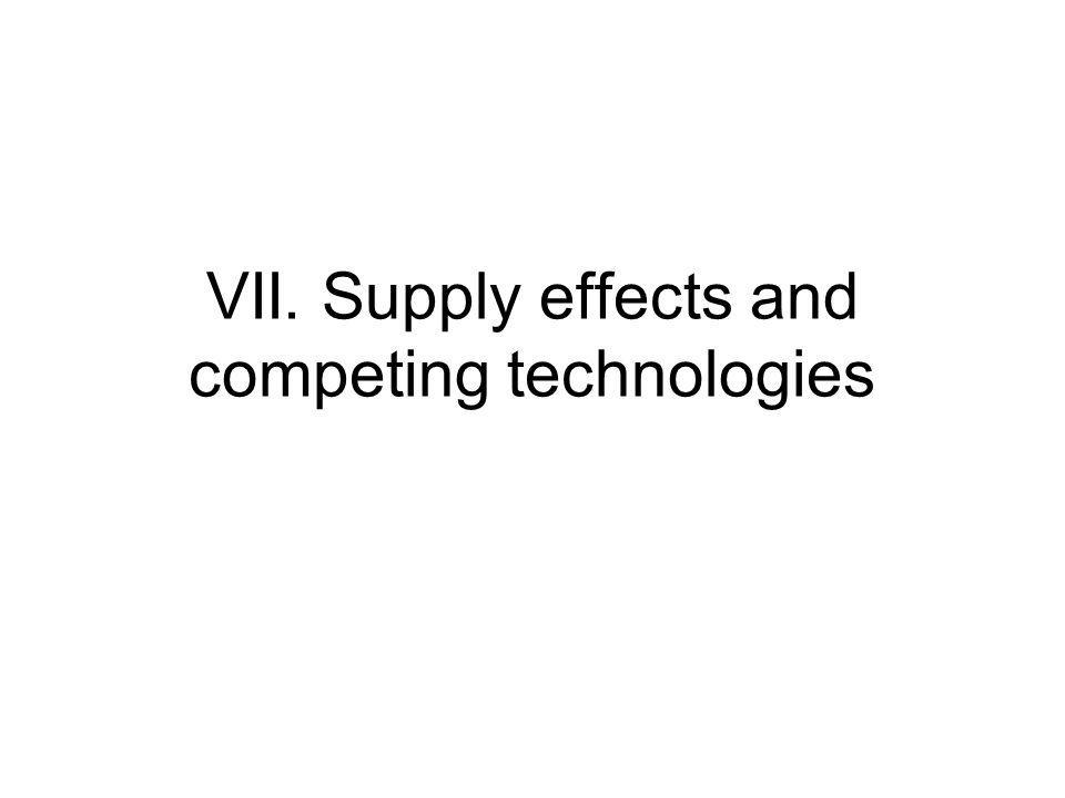 VII. Supply effects and competing technologies