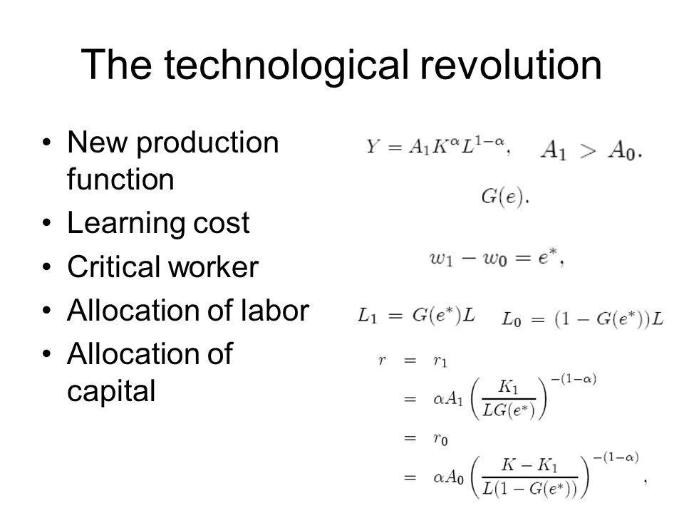 The technological revolution
