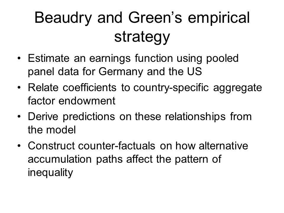 Beaudry and Green's empirical strategy