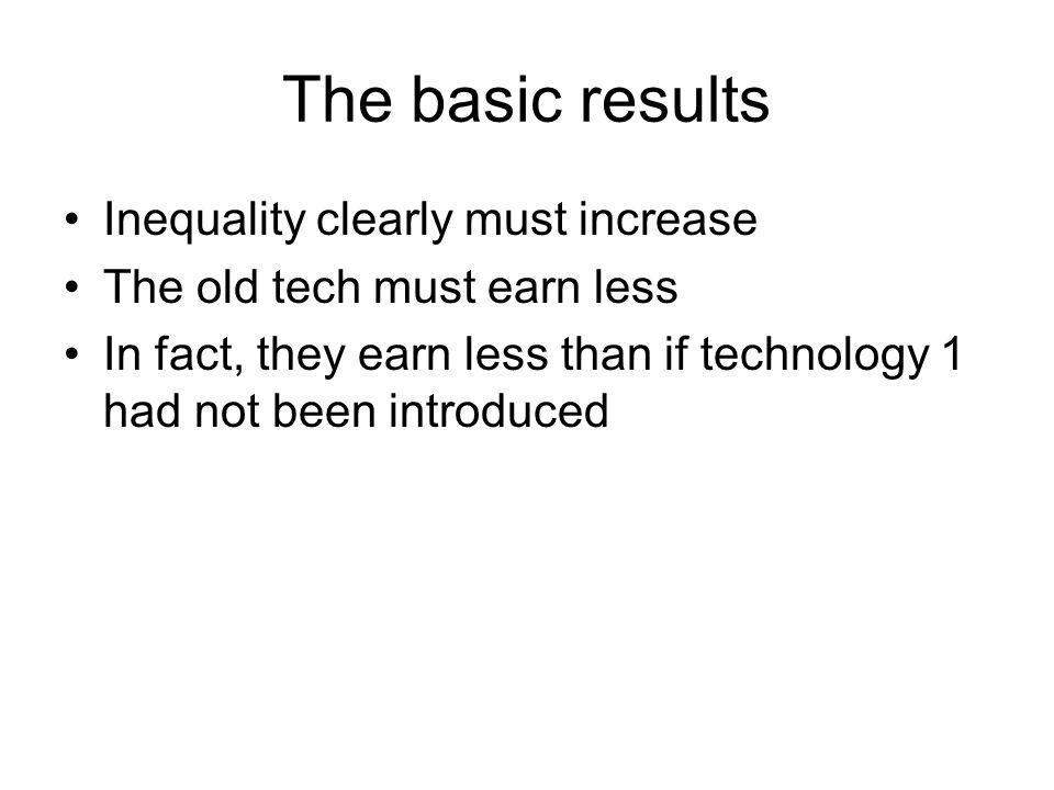 The basic results Inequality clearly must increase