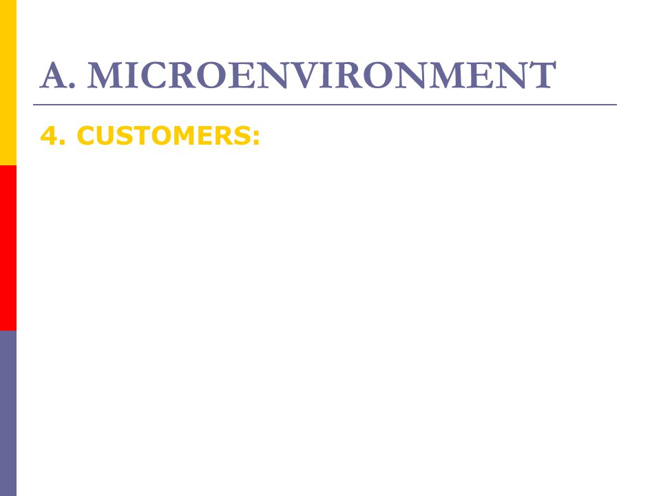 A. MICROENVIRONMENT 4. CUSTOMERS: