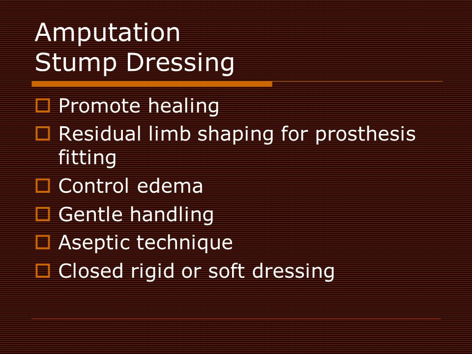 Amputation Stump Dressing
