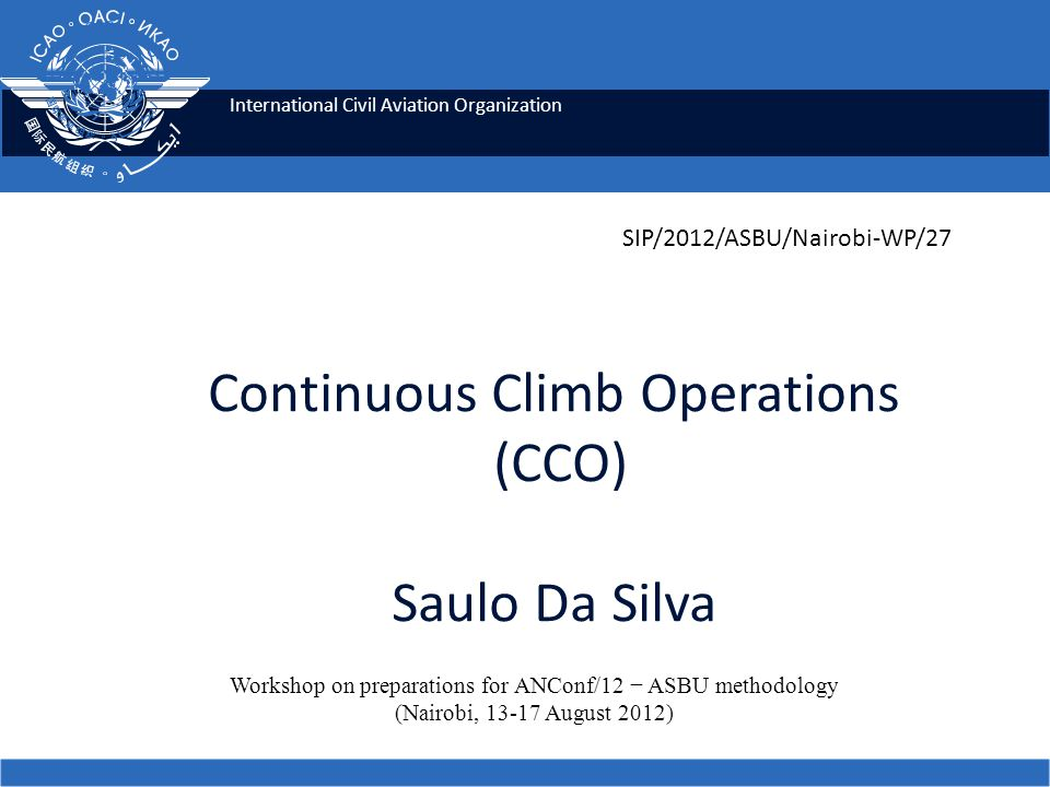 Continuous Climb Operations (CCO) Saulo Da Silva