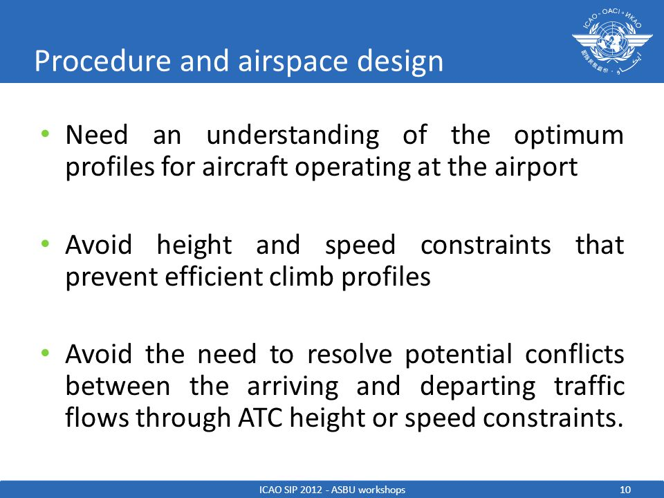 Procedure and airspace design