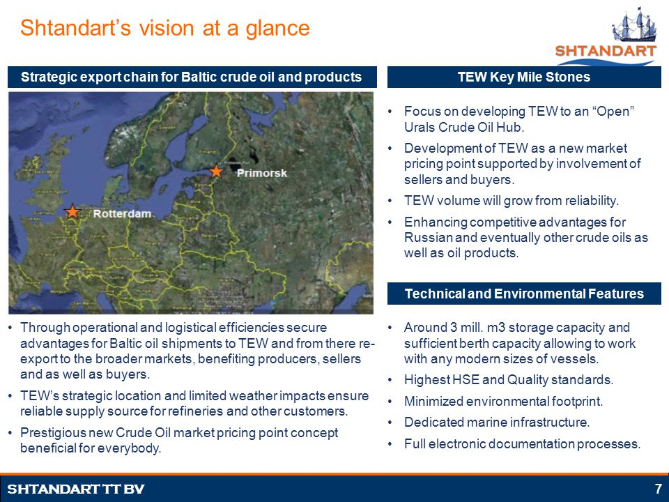 Presentation of Tank Terminal Europoort West (TEW) Project