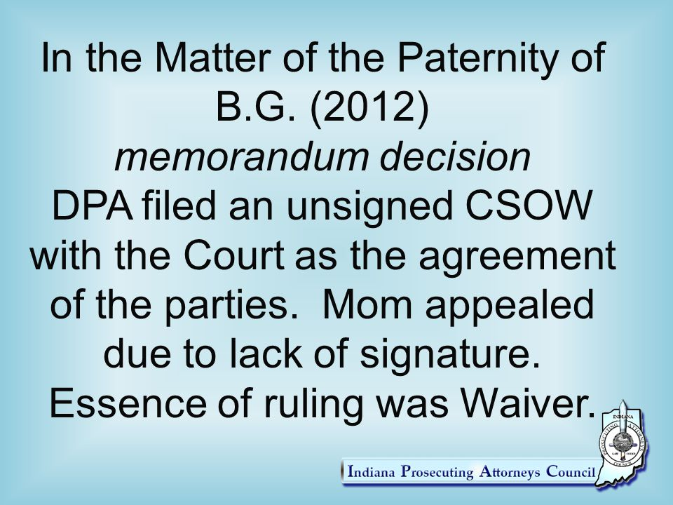 Establishment Of Paternity Establishment Of Support Ppt Video