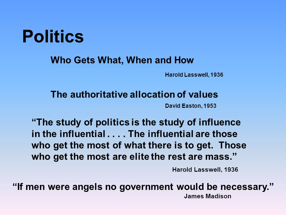 politics defined by harold lasswell