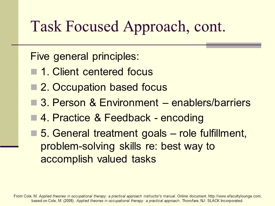 task centered approach therapy