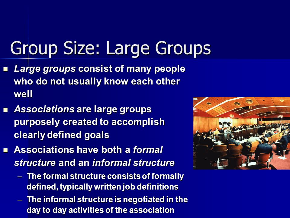 Group Size: Large Groups
